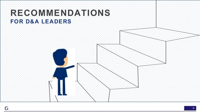 35 RECOMMENDATIONS FOR D&A LEADERS