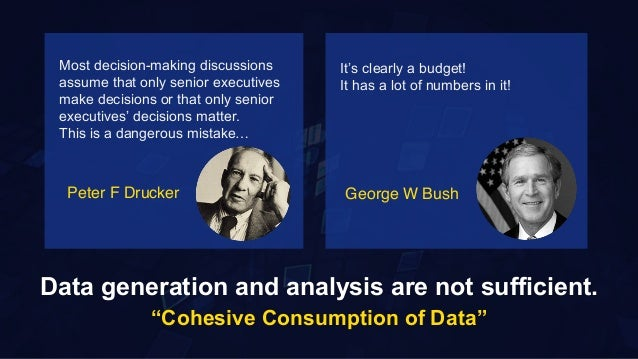"""8 Data generation and analysis are not sufficient. """"Cohesive Consumption of Data"""" Most decision-making discussions assume ..."""