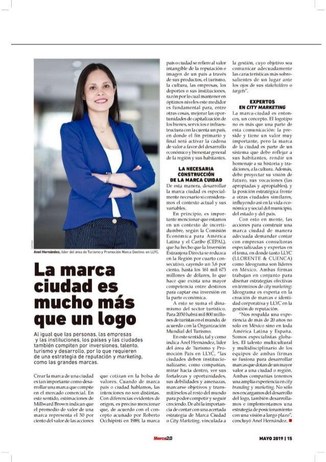 """Anel Hernández: """"La marca ciudad es mucho más que un logo"""""""