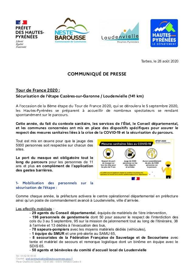 Tour De France 2020 Securisation Etape Cazeres Sur Garonne Louden