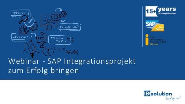 Webinar - SAP Integrationsprojekt zum Erfolg bringen