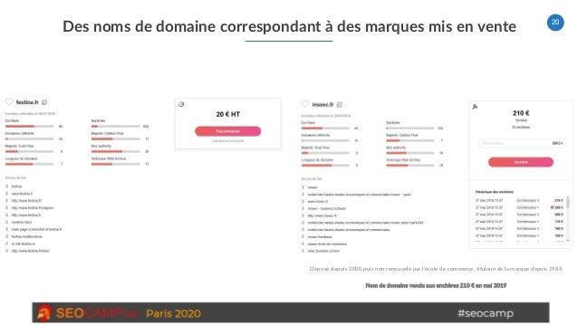 20 Des noms de domaine correspondant à des marques mis en vente Déposé depuis 2000 puis non renouvelé par l'école de comme...