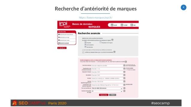 4 Recherche d'antériorité de marques https://bases-marques.inpi.fr/