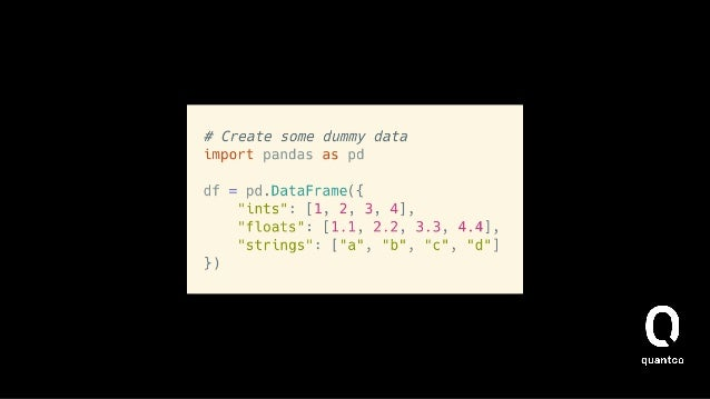 How does it work (read_sql)? • Passes in the data into the from_records constructor   • Optionally parses dates and sets a...