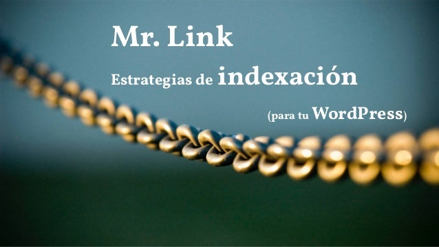Mr. Link Estrategias de indexación (para tu WordPress)