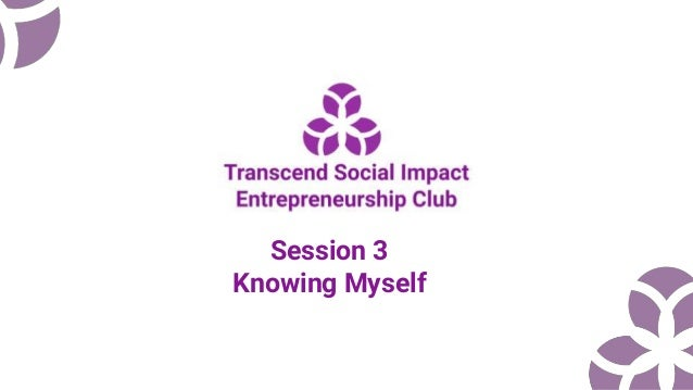 Session 3 Knowing Myself