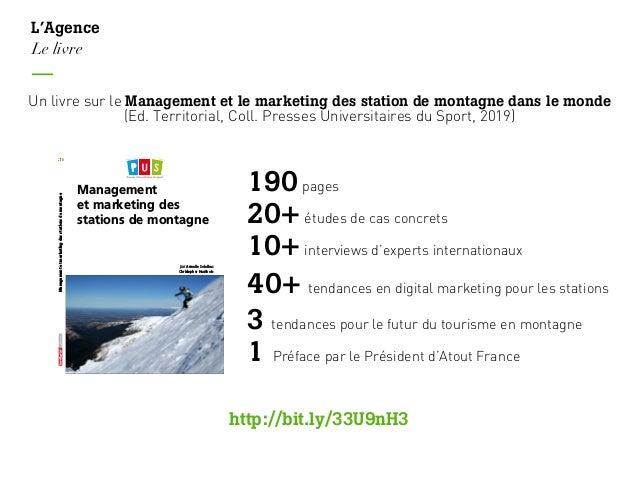 Un livre sur le Management et le marketing des station de montagne dans le monde (Ed. Territorial, Coll. Presses Universit...