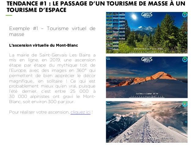Exemple #1 – Tourisme virtuel de masse L'ascension virtuelle du Mont-Blanc La mairie de Saint-Gervais Les Bains a mis en l...