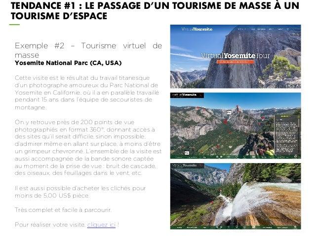 Exemple #2 – Tourisme virtuel de masse Yosemite National Parc (CA, USA) Cette visite est le résultat du travail titanesque...