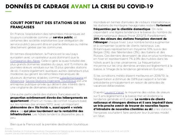COURT PORTRAIT DES STATIONS DE SKI FRANÇAISES En France, l'exploitation des remontées mécaniques est toujours considérée c...