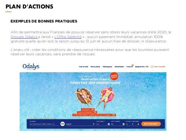 PLAN D'ACTIONS EXEMPLES DE BONNES PRATIQUES Afin de permettre aux Français de pouvoir réserver sans stress leurs vacances ...
