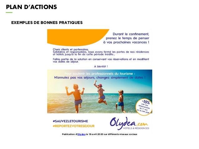 PLAN D'ACTIONS EXEMPLES DE BONNES PRATIQUES Publication d'Olydea le 19 avril 2020 sur différents réseaux sociaux