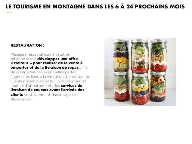 LE TOURISME EN MONTAGNE DANS LES 6 À 24 PROCHAINS MOIS RESTAURATION : Plusieurs restaurateurs en station réfléchissent à d...