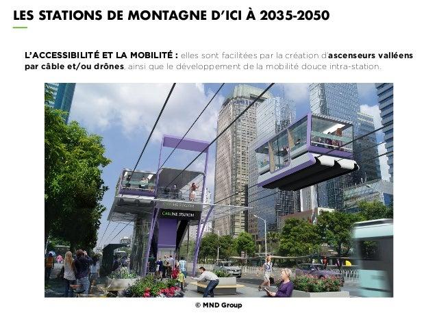 L'ACCESSIBILITÉ ET LA MOBILITÉ : elles sont facilitées par la création d'ascenseurs valléens par câble et/ou drônes, ainsi...