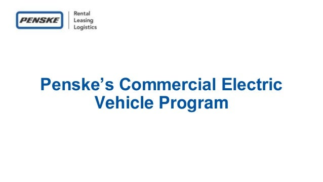 Penske's Commercial Electric Vehicle Program