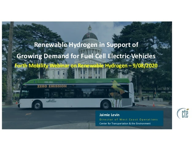 Renewable Hydrogen in Support of Growing Demand for Fuel Cell Electric Vehicles Forth Mobility Webinar on Renewable Hydrog...