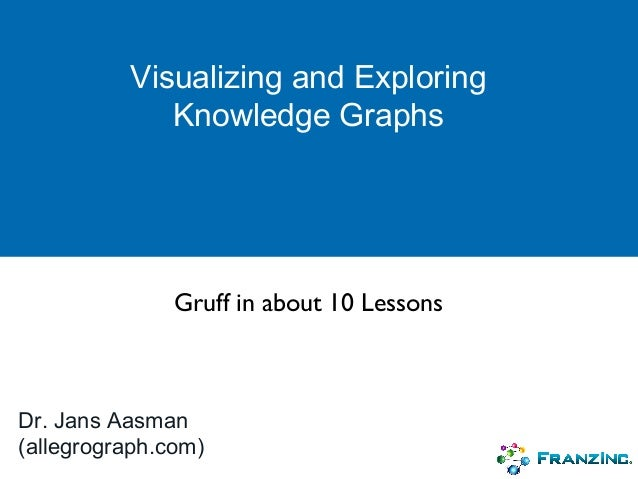 Visualizing and Exploring Knowledge Graphs Dr. Jans Aasman (allegrograph.com) Gruff in about 10 Lessons