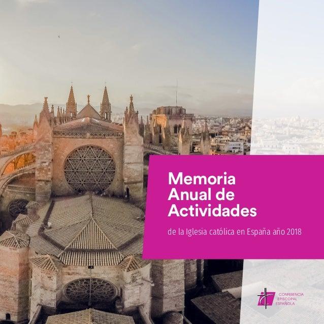 Memoria Anual de Actividades de la Iglesia católica en España año 2018