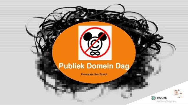 Publiek Domein Dag Presentatie Sam Donvil