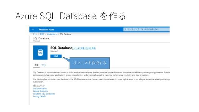 Azure SQL Database を作る リソースを作成する