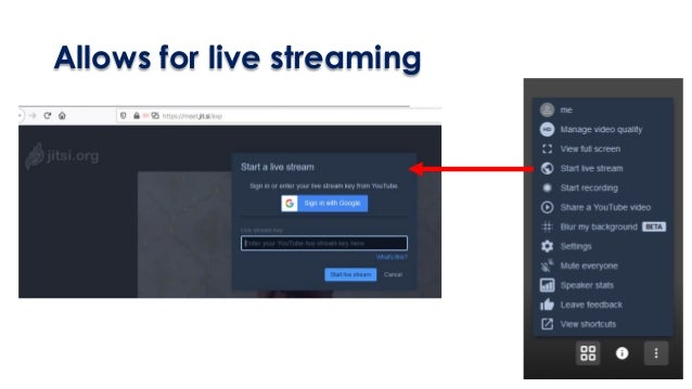 Allows for live streaming