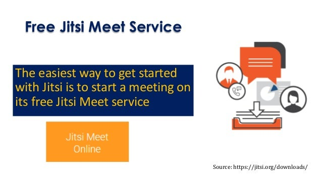 Free Jitsi Meet Service The easiest way to get started with Jitsi is to start a meeting on its free Jitsi Meet service Sou...