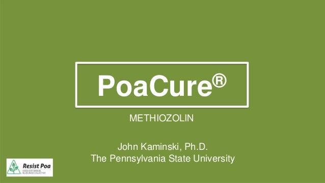 PoaCure® METHIOZOLIN John Kaminski, Ph.D. The Pennsylvania State University