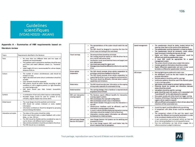 106 Guidelines scientifiques (VIDAS H2020 - AKIANI)