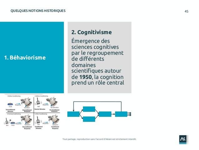 45QUELQUES NOTIONS HISTORIQUES 1. Béhaviorisme 2. Cognitivisme Émergence des sciences cognitives par le regroupement de di...