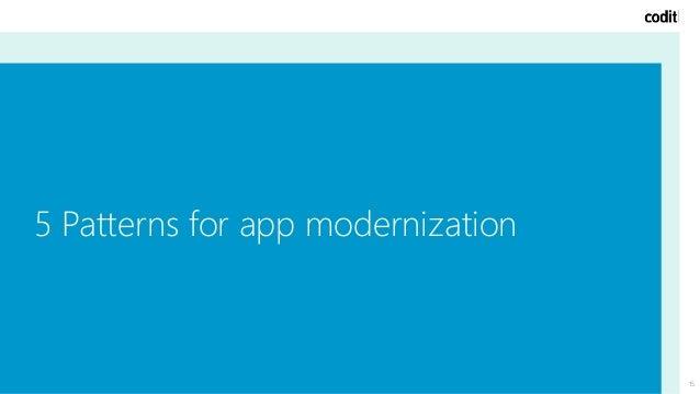 15 5 Patterns for app modernization