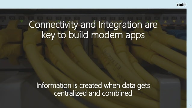 5 Connectivity and Integration are key to build modern apps Information is created when data gets centralized and combined