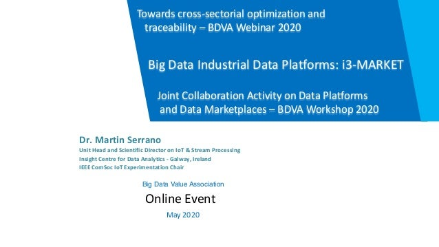 Dr. Martin Serrano Unit Head and Scientific Director on IoT & Stream Processing Insight Centre for Data Analytics - Galway...