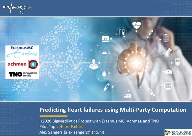 Predicting heart failures using Multi-Party Computation 001010010100101 1010010010001001001 0100101001 01000110 0010111111...