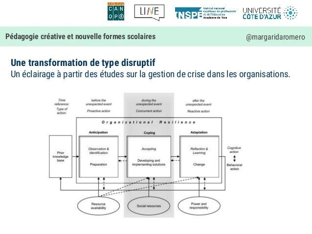 Une transformation de type disruptif Un éclairage à partir des études sur la gestion de crise dans les organisations. Péda...