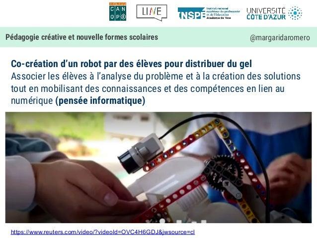 Co-création d'un robot par des élèves pour distribuer du gel Associer les élèves à l'analyse du problème et à la création ...