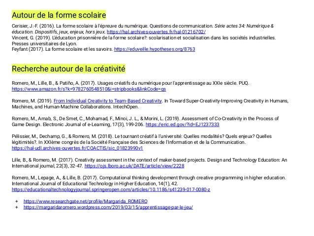 Cerisier, J.-F. (2016). La forme scolaire à l'épreuve du numérique. Questions de communication. Série actes 34: Numérique ...