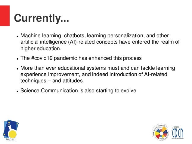 Science education and Artificial Intelligence. A Chatbot on Magic and Quantum Computing as an educational tool  Slide 2