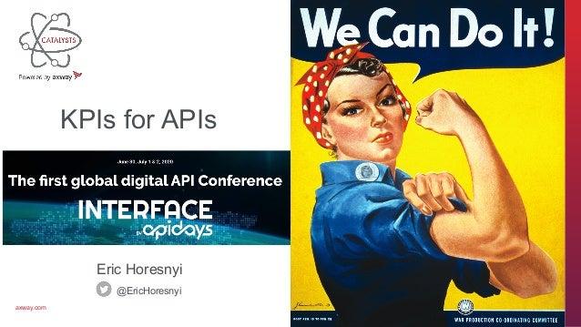 axway.com Eric Horesnyi @EricHoresnyi KPIs for APIs