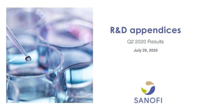 Q2 2020 Results R&D appendices July 29, 2020