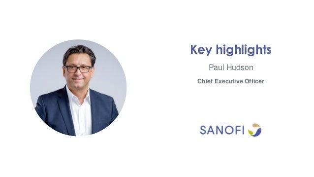 Paul Hudson Key highlights Chief Executive Officer