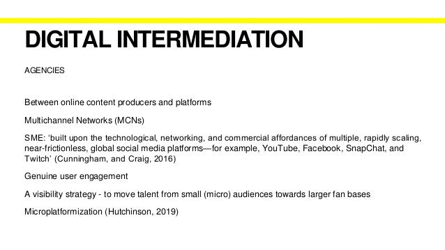 ONLINE CONTENT PRODUCERS Microcelebrities (Senft, 2013; Marwick, 2013) Digital Influencers (Abidin, 2016) Digital First Pe...