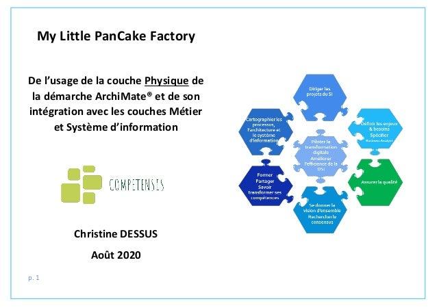 p. 1 My Little PanCake Factory De l'usage de la couche Physique de la démarche ArchiMate® et de son intégration avec les c...