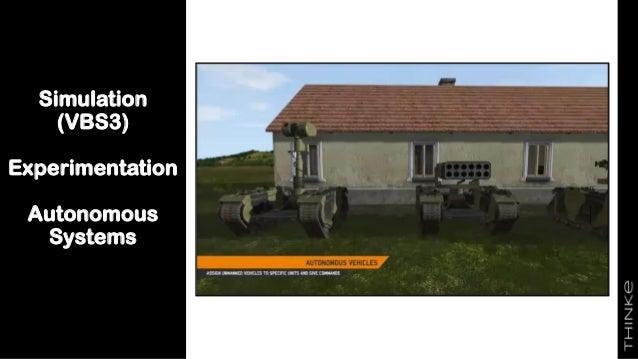 Simulation (VBS3) Experimentation Autonomous Systems