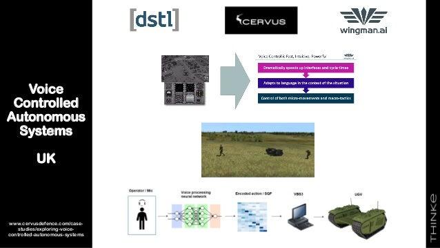 Voice Controlled Autonomous Systems UK 22 www.cervusdefence.com/case- studies/exploring-voice- controlled-autonomous-syste...