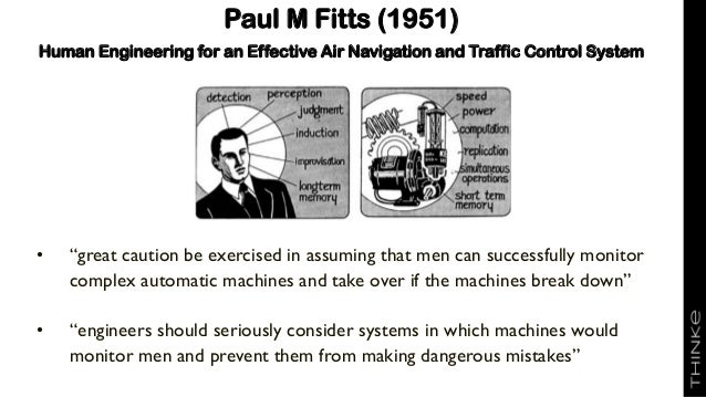 """Paul M Fitts (1951) Human Engineering for an Effective Air Navigation and Traffic Control System • """"great caution be exerc..."""