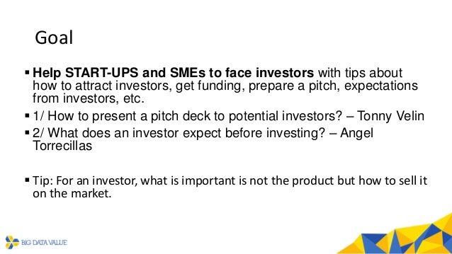 BDVe Webinar Series - Help to face an investor Slide 2