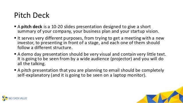 BDVe Webinar Series - Help to face an investor Slide 3