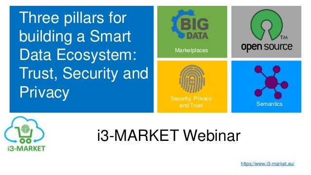 Three pillars for building a Smart Data Ecosystem: Trust, Security and Privacy Marketplaces Semantics Security, Privacy an...