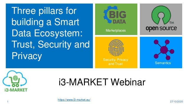 Three pillars for building a Smart Data Ecosystem: Trust, Security and Privacy 27/10/20201 Marketplaces Semantics Security...