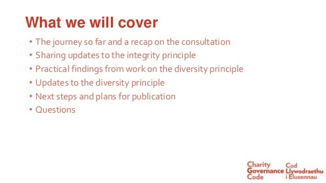 NCVO webinar: An update on changes to the Charity Governance Code Slide 2